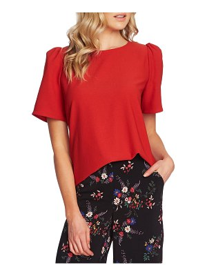 Vince Camuto puff sleeve rumple satin top