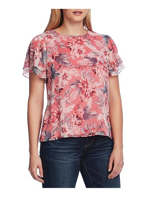 Vince Camuto romantic lilies double ruffle sleeve blouse
