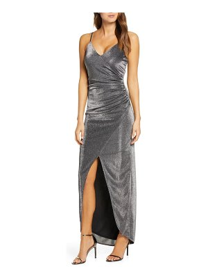 Vince Camuto ruched metallic gown