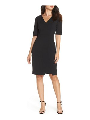 Vince Camuto scuba crepe sheath dress