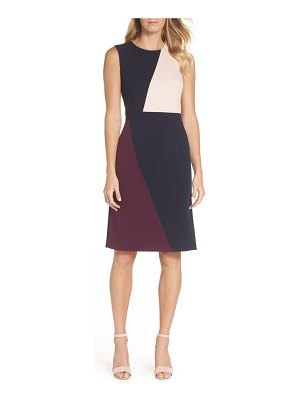 Vince Camuto scuba colorblock sheath dress