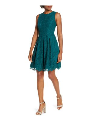 Vince Camuto sleeveless lace fit & flare dress