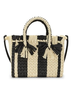 Vince Camuto small emei straw satchel