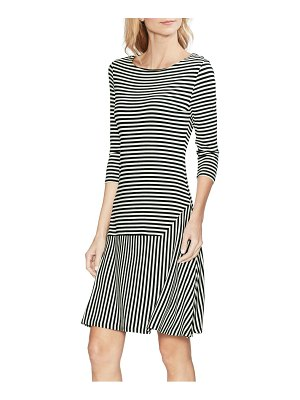 Vince Camuto stripe drop waist dress