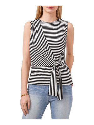 Vince Camuto stripe tie front tank