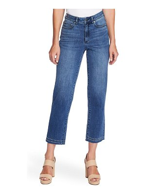Vince Camuto stud detail high waist ankle straight leg jeans