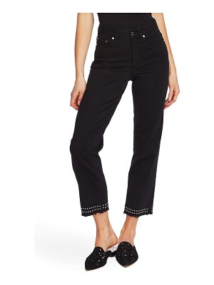 Vince Camuto stud detail high waist crop straight leg jeans