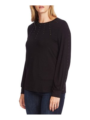 Vince Camuto stud detail long sleeve top