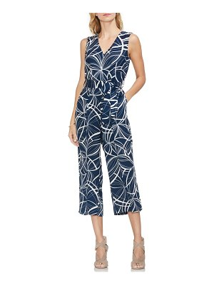 Vince Camuto swirl movements belted jumpsuit