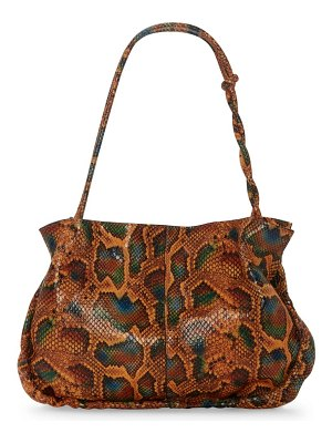 Vince Camuto tally snake embossed leather top handle bag