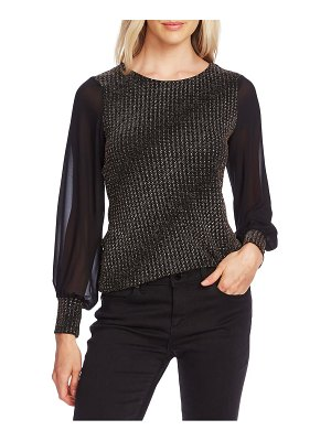Vince Camuto textured chiffon sleeve top