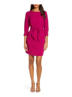 Vince Camuto tie waist crepe sheath dress