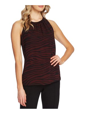 Vince Camuto tranquil animal print sleeveless blouse