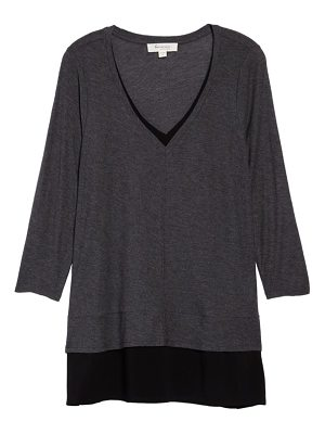 Vince Camuto two by  mixed media tunic
