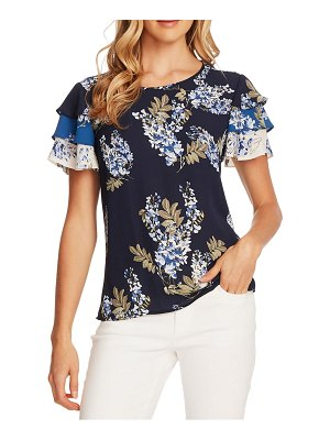 Vince Camuto weeping willows floral tiered sleeve georgette top