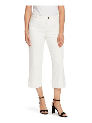 Vince Camuto wide leg stretch cotton twill pants