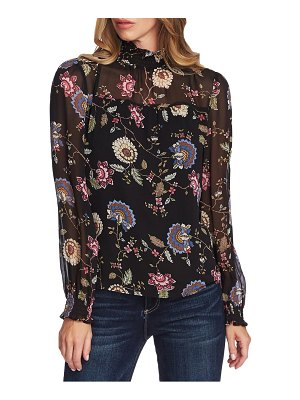 Vince Camuto windsor floral chiffon top
