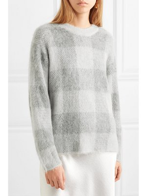 Vince checked knitted sweater