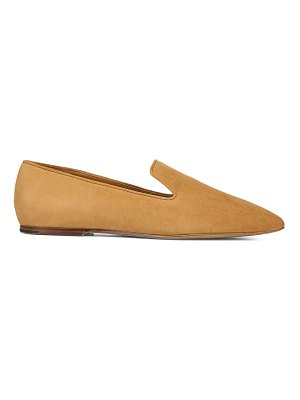 Vince clark square-toe suede loafers