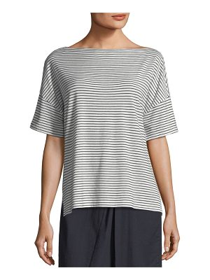 Vince Classic Stripe Boat-Neck Tee