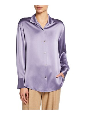 Vince Collared Silk Button-Down Blouse