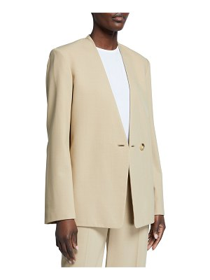 Vince Collarless Single-Button Blazer