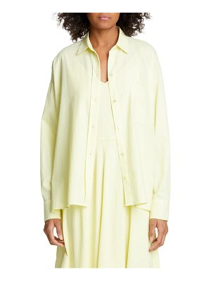 Vince cotton & silk boxy shirt