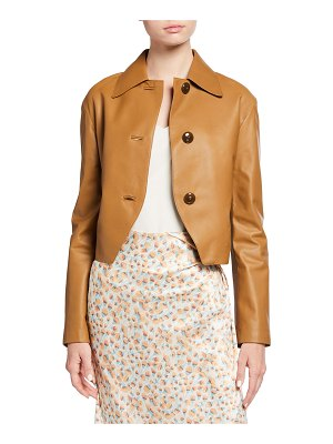 Vince Cropped Leather Jacket
