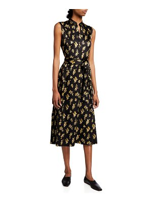 Vince Dandelion Popover Midi Dress
