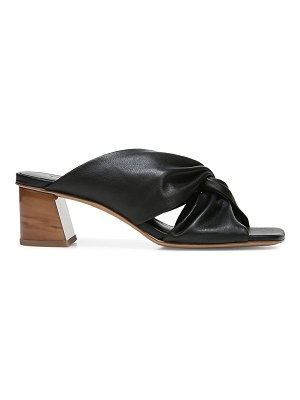 Vince denise twist-front leather slide sandals