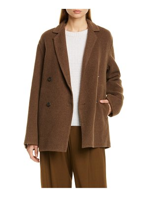 Vince double breasted wool blend coat
