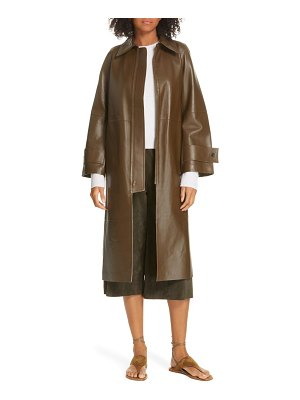 Vince double face lambskin leather trench coat