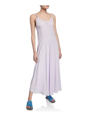 Vince Double-Layer Spaghetti-Strap Slip Dress