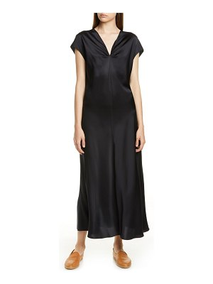 Vince draped v-neck silk dress