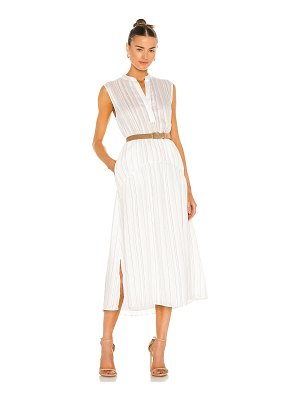 Vince drapey stripe tiered dress
