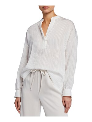 Vince Drapey Striped Pullover Tunic