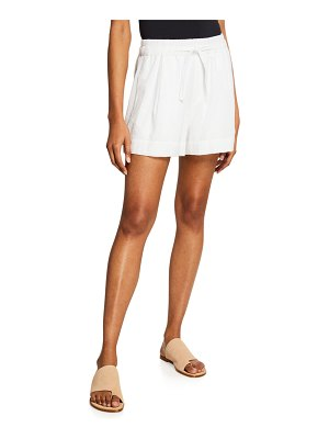 Vince Drawstring Cotton Terry Shorts
