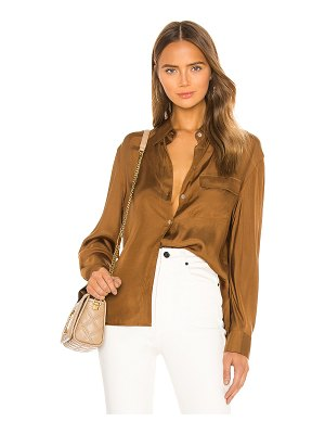 Vince easy utility button down top