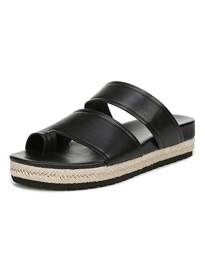 Vince Floyd Leather Flat Sandals