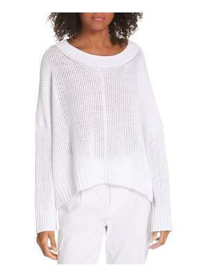 Vince front seam cotton poncho style sweater