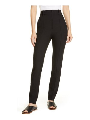 Vince high waist stretch cotton cigarette pants