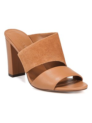 Vince Hiro Suede & Leather Mule Sandals