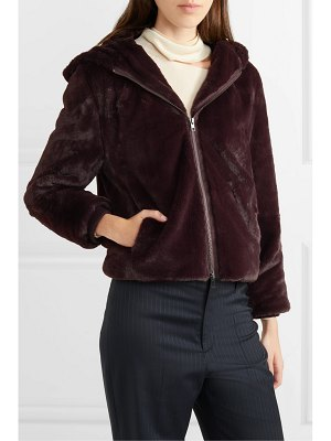 Vince hooded faux fur jacket