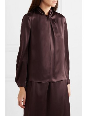 Vince knotted silk-satin blouse