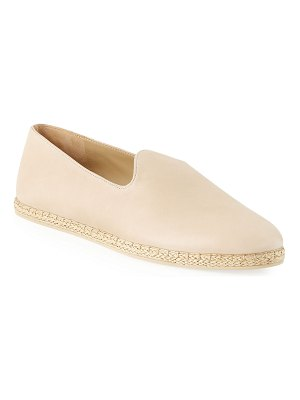 Vince Malia Leather Flat Espadrille Loafers
