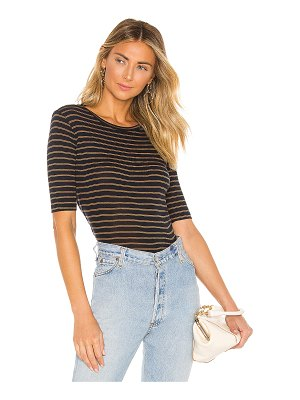 Vince micro double stripe elbow crew