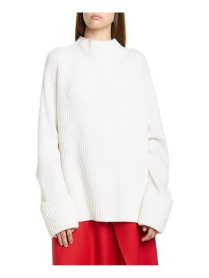 Vince mix stitch funnel neck wool sweater