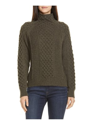 Vince mixed cable wool & cashmere blend sweater