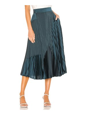 Vince mixed media pleated skirt