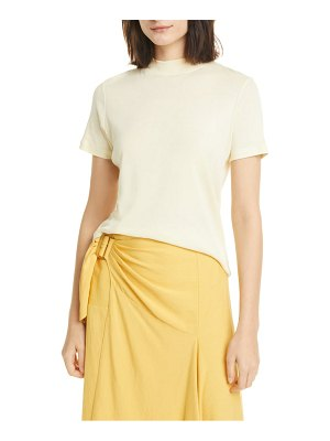 Vince mock neck short sleeve pima cotton t-shirt